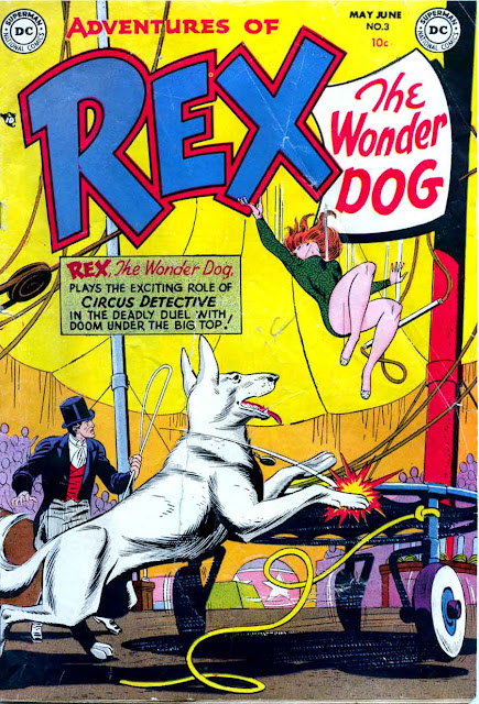 Adventures of Rex the Wonder Dog v1 #3 dc 1950s golden age comic book cover art by Alex Toth