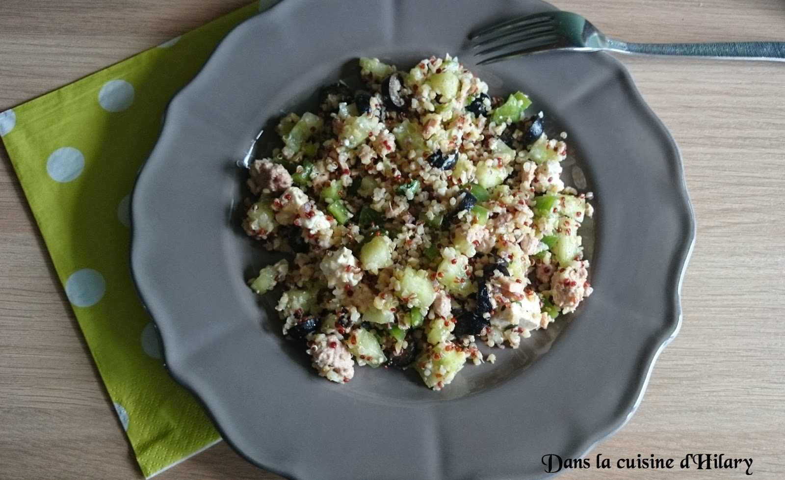Salade gourmande au quinoa et ses influences Grecques