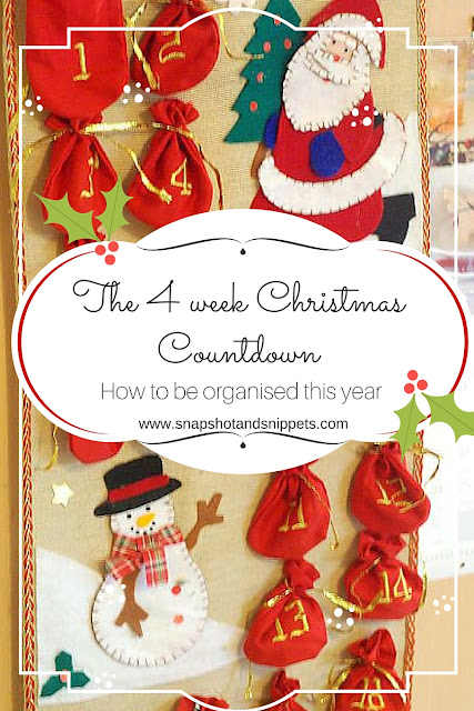 4 weeks Organized Christmas Countdown