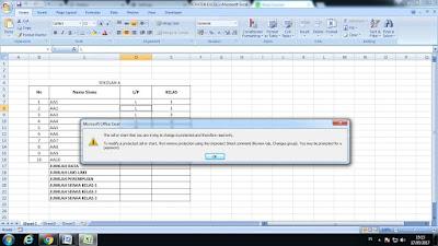 Cara Mengunci File Excel Pada Sheet