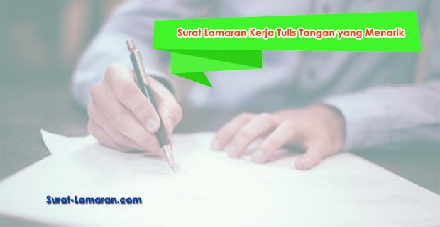 Contoh Surat Lamaran Kerja Tulis Tangan yang Menarik