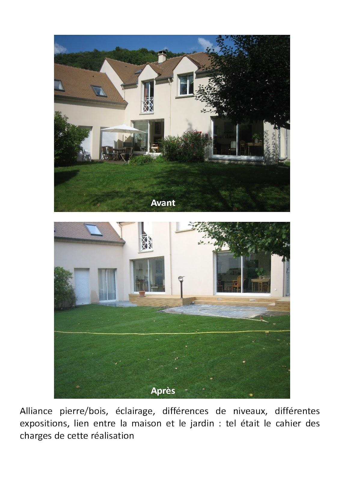 Terrasse En Bois Oise paysagiste val d'oise, création jardin 95,: terrasse pierres