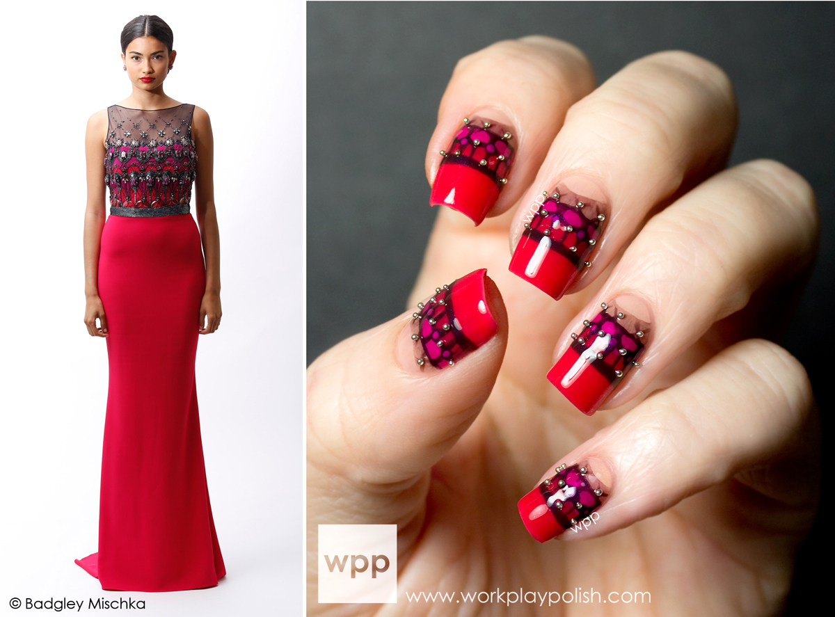 Badgley Mischka Resort 2014 Inspired Mani using Sation Nail Polishes