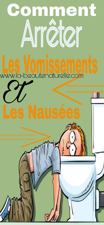 Comment arrêter les vomissements et les nausées ?