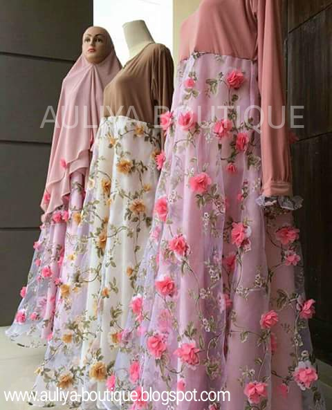 Auliya Boutique Online Gamis Pesta Ala Zahra Dress Lyra