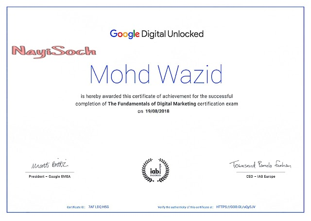 Get Certified by Google Digital Marketing Free Course