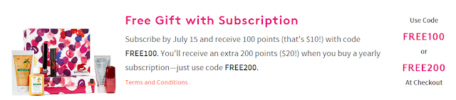 birchbox free 100 points