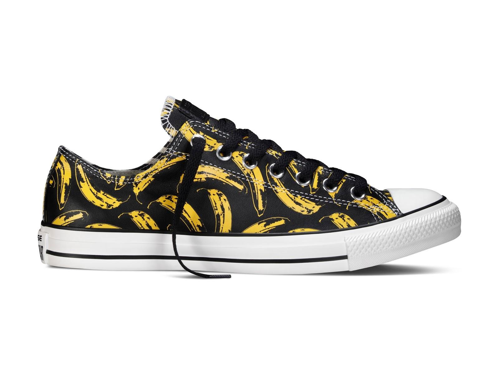 converse x andy warhol banana