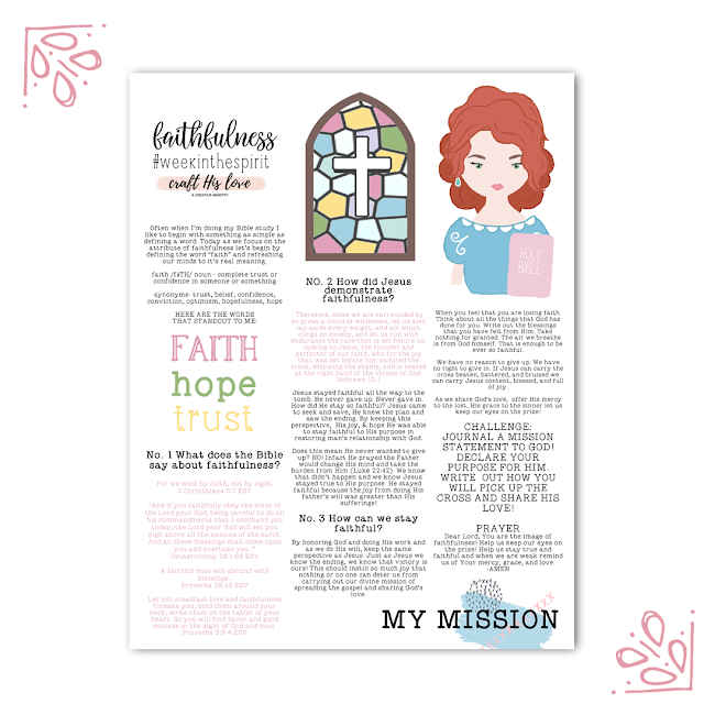 Craft His Love Week in the Spirit Faithfulness Devotional