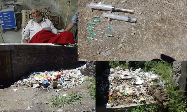 Garbage at DHQ Hospital Chitral troubles patients, attendants