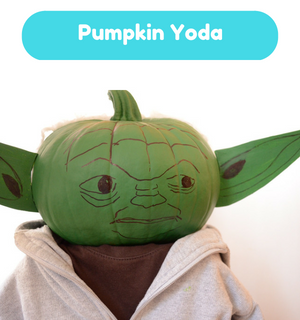 Practical Mom Halloween: Pumpkin Yoda