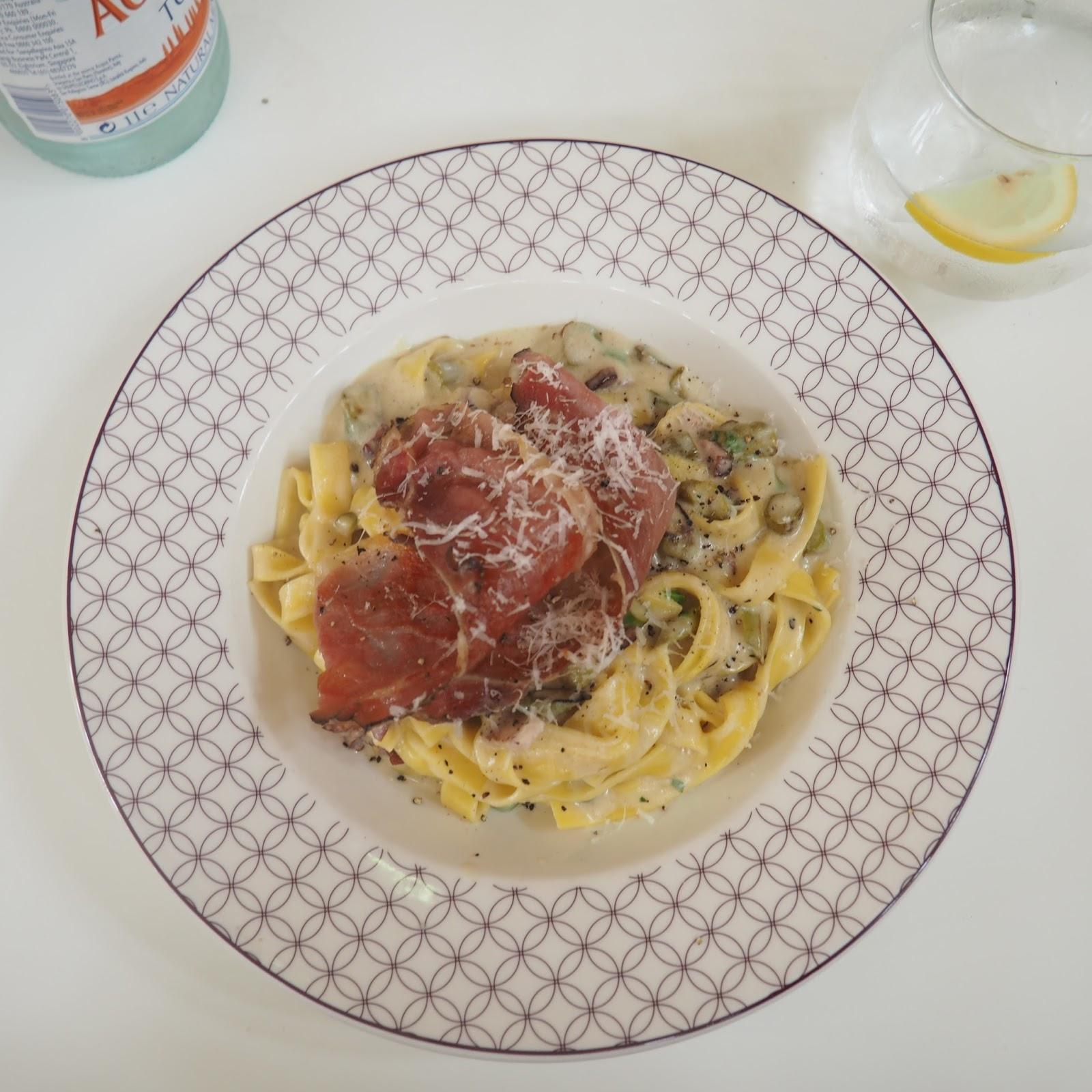 ASK Italian York Pancetta & Asparagus Carbonara