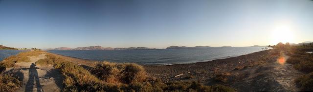 Hydra bay panoramic view