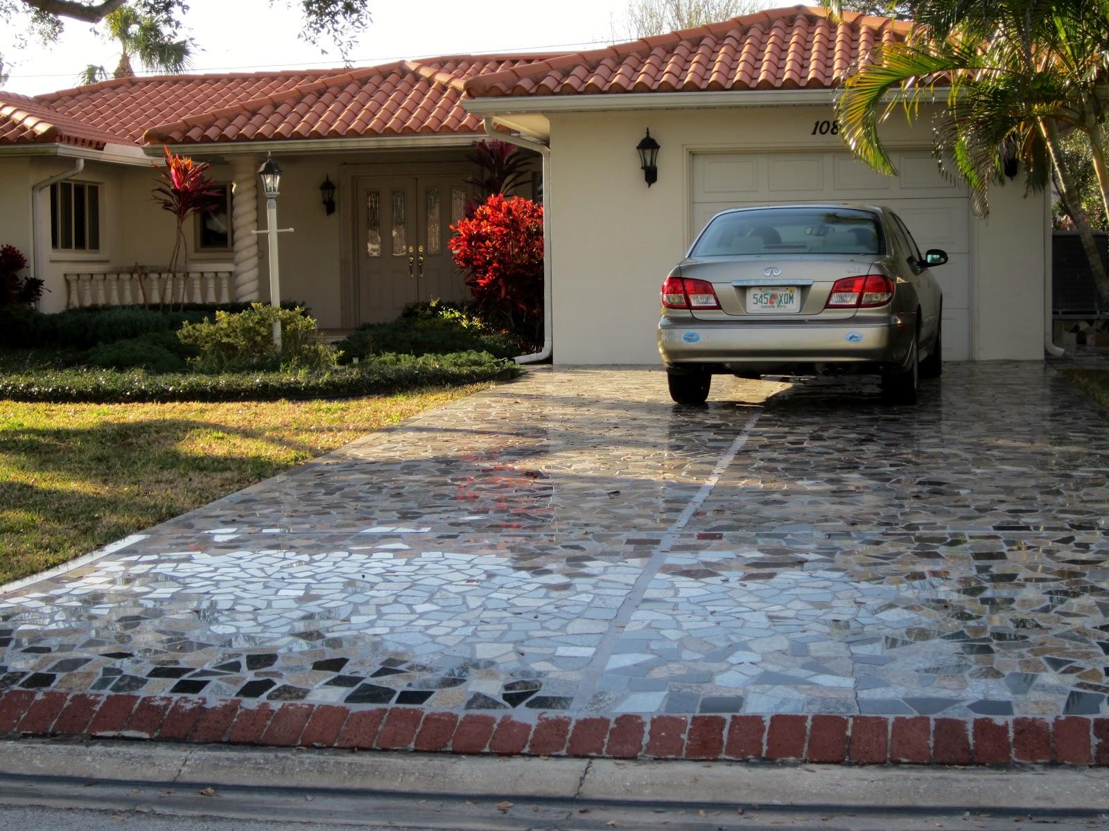 Wanda S Garden Adventures Mosaic Driveway How To