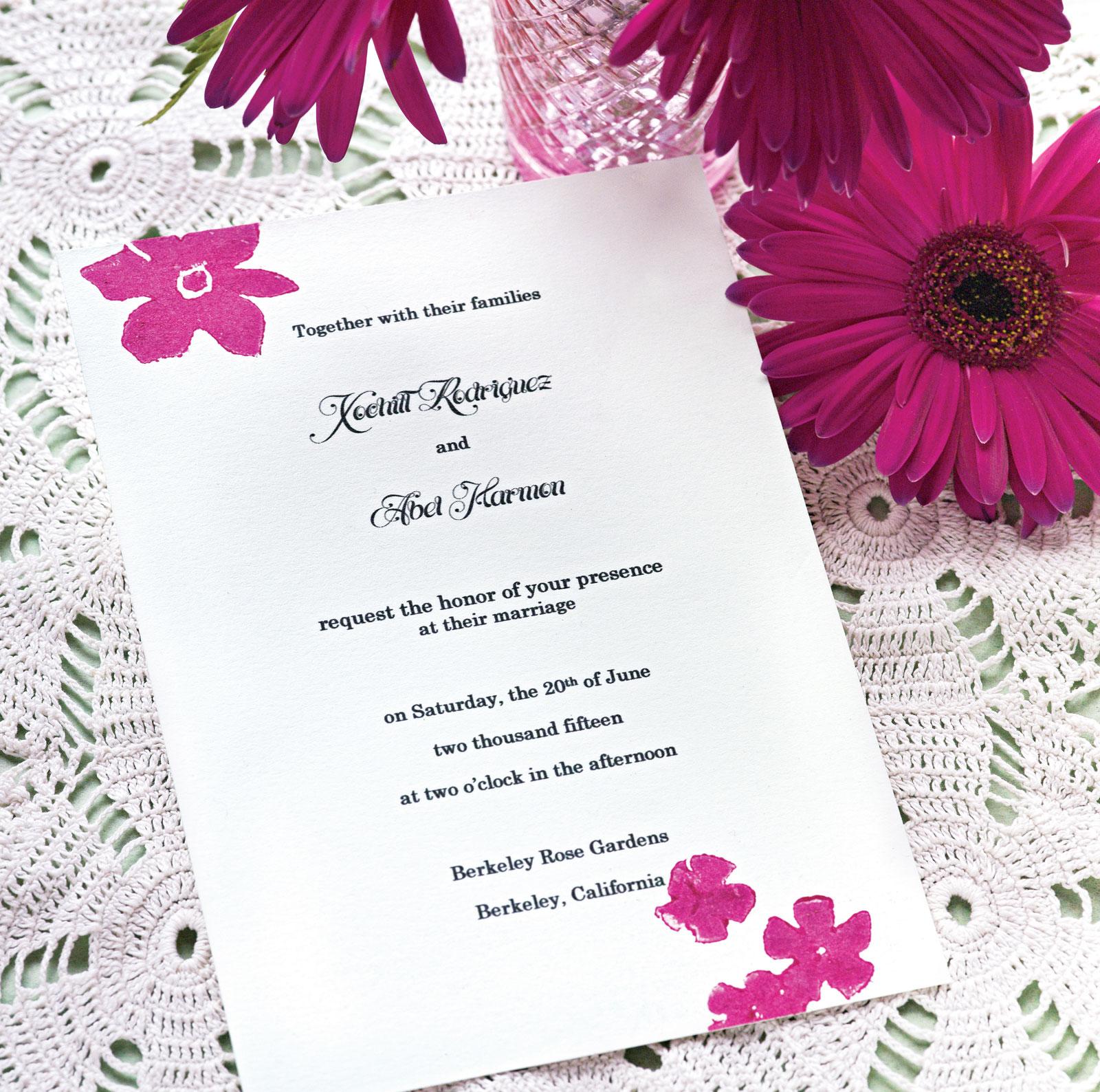 Printing Your Own Wedding Invitations: Linda Nordli: Wedding Invitations