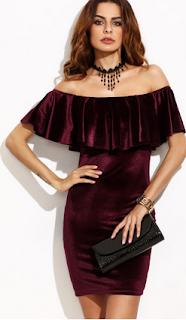 www.shein.com/Burgundy-Ruffle-Off-The-Shoulder-Velvet-Bodycon-Dress-p-309167-cat-1727.html?aff_id=5061