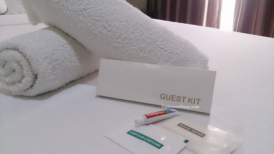Emerald Suites' guest kits is a plus!