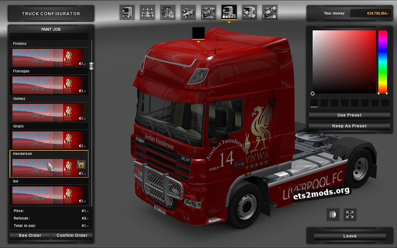 Liverpool Skin Pack for DAF XF