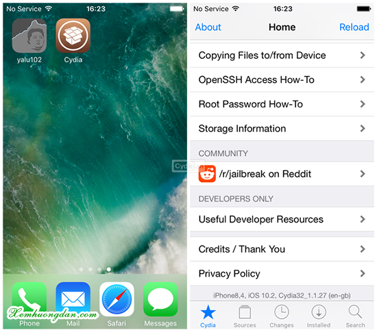 Huong dan cach jailbreak iOS 10.2
