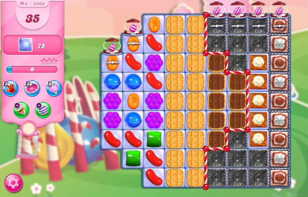 Candy Crush Saga level 5863