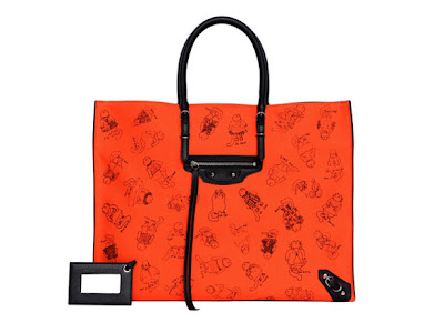 "Grace Coddington for Balenciaga: ""Pumpkin"" Papier Tote, FNO, Fashion's Night Out"