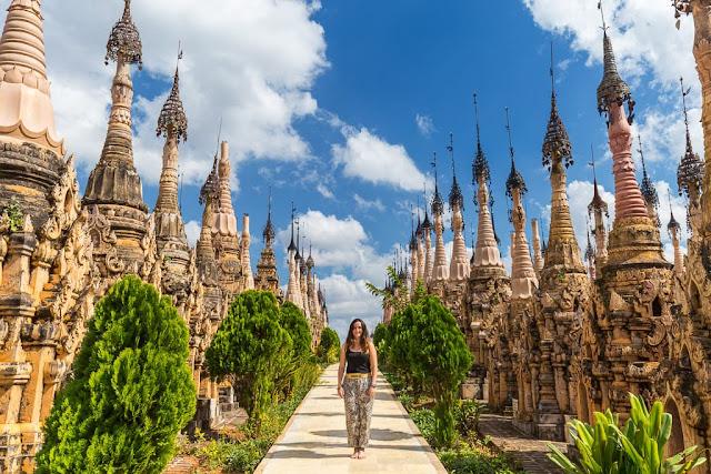 Bosque de estupas de Kakku, Myanmar