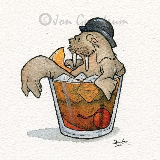 02-Old-Fashioned-Walrus-Jon-Guerdrum-Drawings-of-Surreal-Drinking-Visions-of-Animals-www-designstack-co