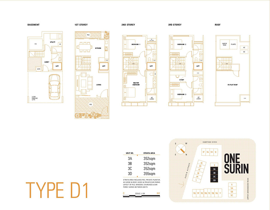 One Surin Floor Plan Type D1