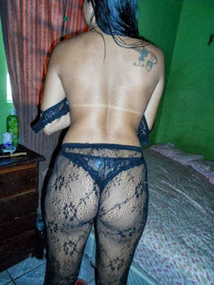 Fotos amadoras da morena rabuda de lingerie e pelada caiu na net