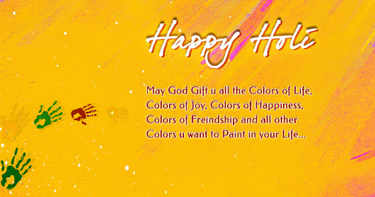 Formal Happy Holi Wishes in English 2018
