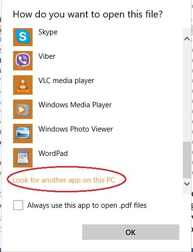 how to set up default pdf viewer windows 10