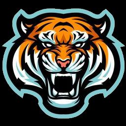 logo harimau biru