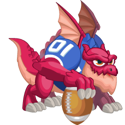 Appearance of Super Bowl Dragon when teenager