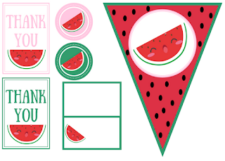 free watermelon party printables