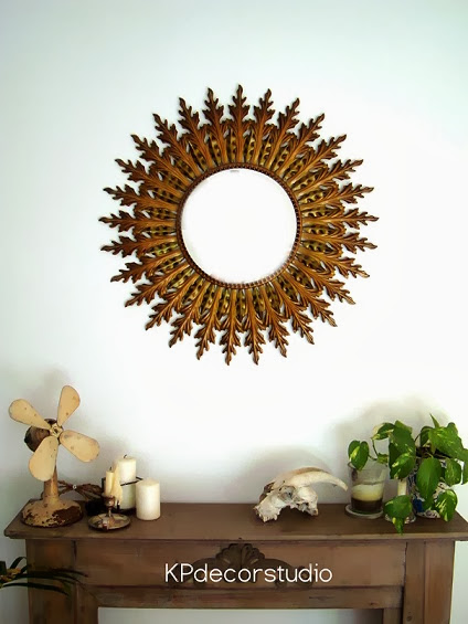 Comprar espejo sol vintage de pared online