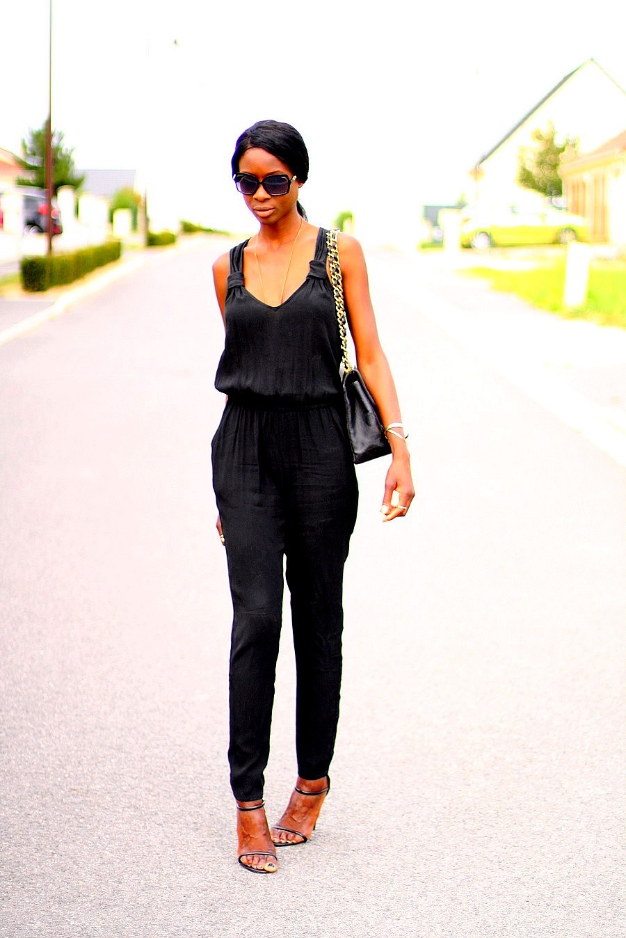 jumpsuit-mango-chanel-jumbo-xl-bag-strappy-sandals-public-desire