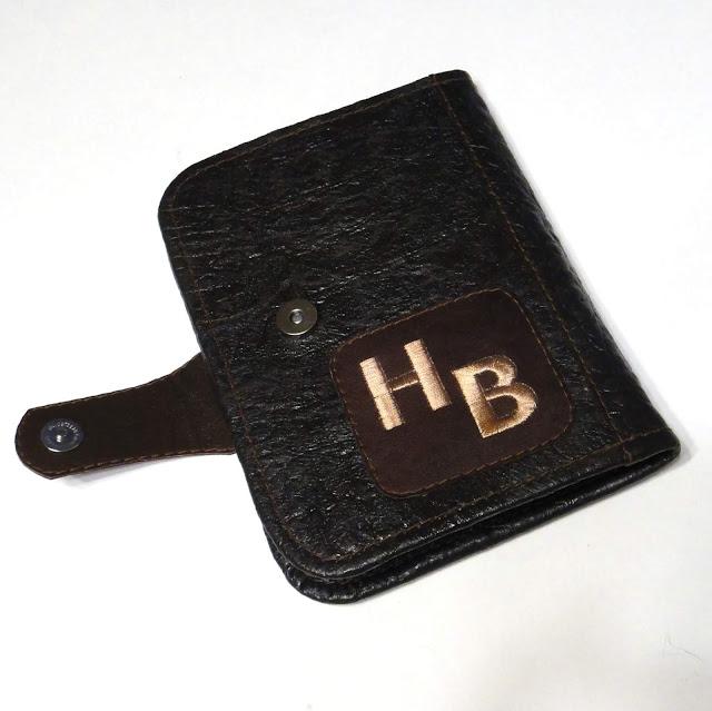 Кожаный кошелек - портмоне для денег и документов с инициалами владельца. Ручная работа, доставка почтовой или курьерской службой