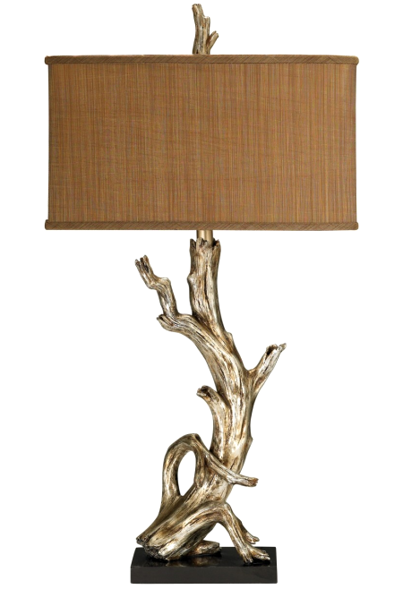 silver driftwood table lamp