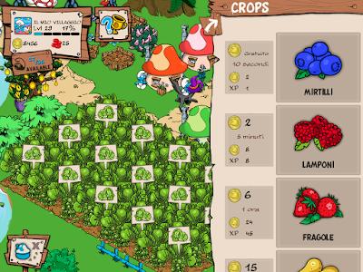 Smurfs Village cosa coltivare
