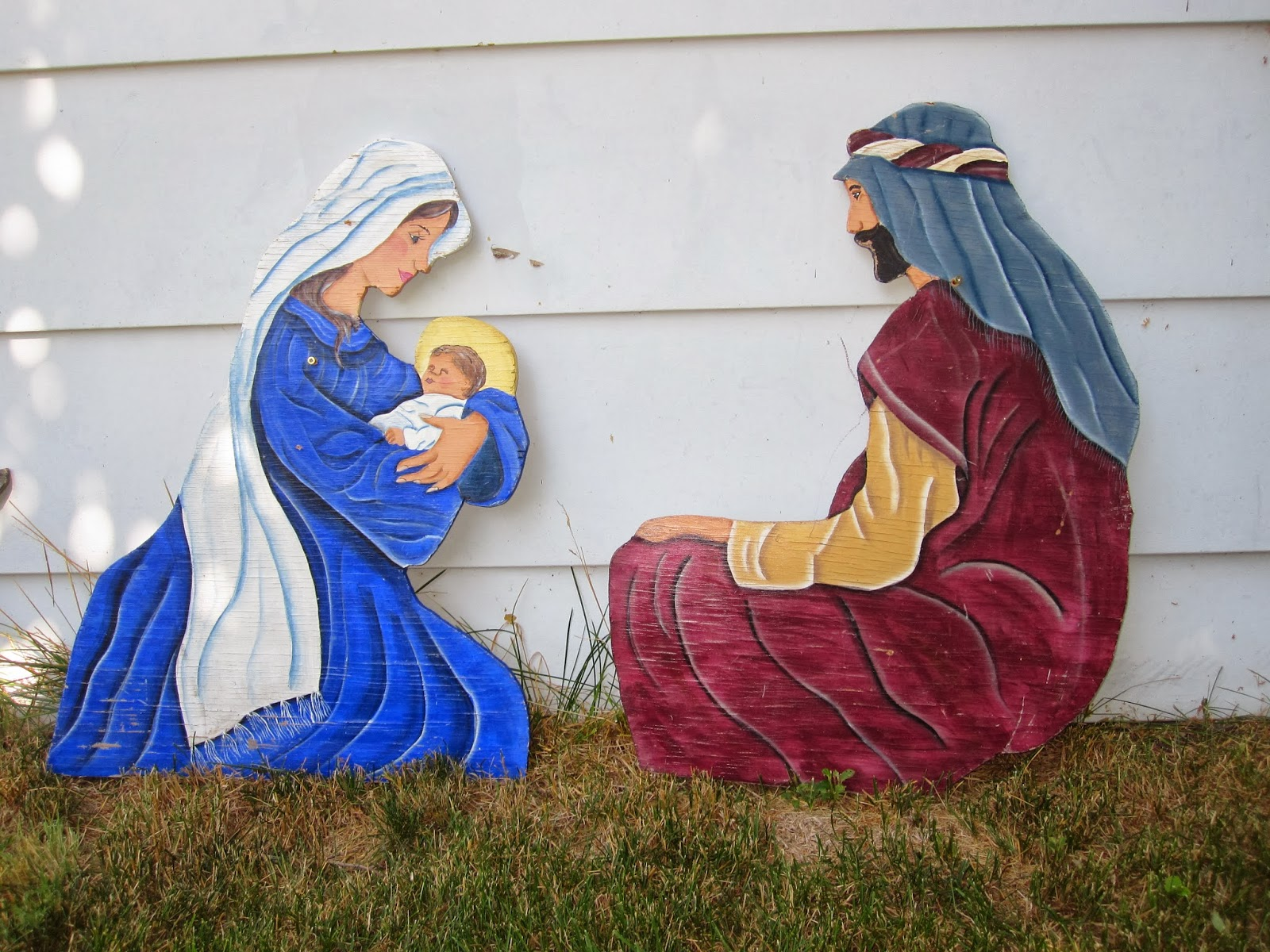 Flowers On The Roof Diy Painted Outdoor Nativity Set
