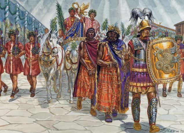 Victory parade over Jugurtha