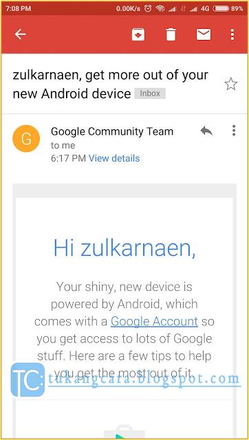 Bikin Email Gmail Lewat HP