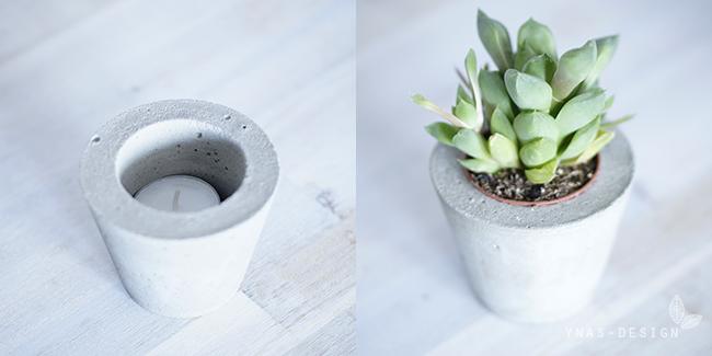Ynas Design Blog | Betontöpfchen als Teelicht oder Übertopf | Oh, Beton!