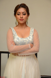 Anu Emmanuel in a Transparent White Choli Cream Ghagra Stunning Pics 102.JPG