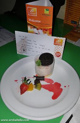 Mousse cake sebagai dessert selamat datang. yummm! (dok: pri)