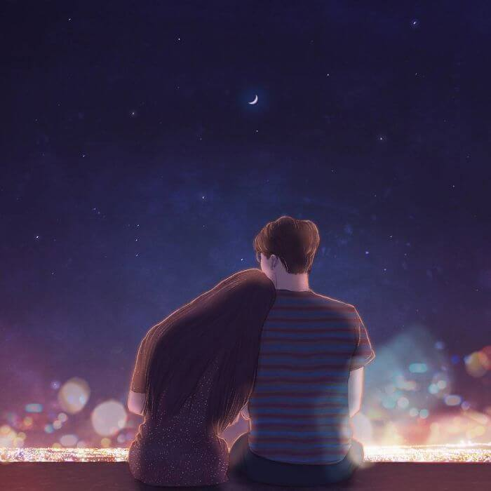 22 Beautiful Illustrations That Prove The Magic Of Love - Watching The City Lights