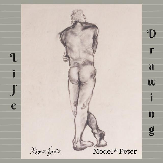 Nude Drawings by Minaz Jantz. Model Peter