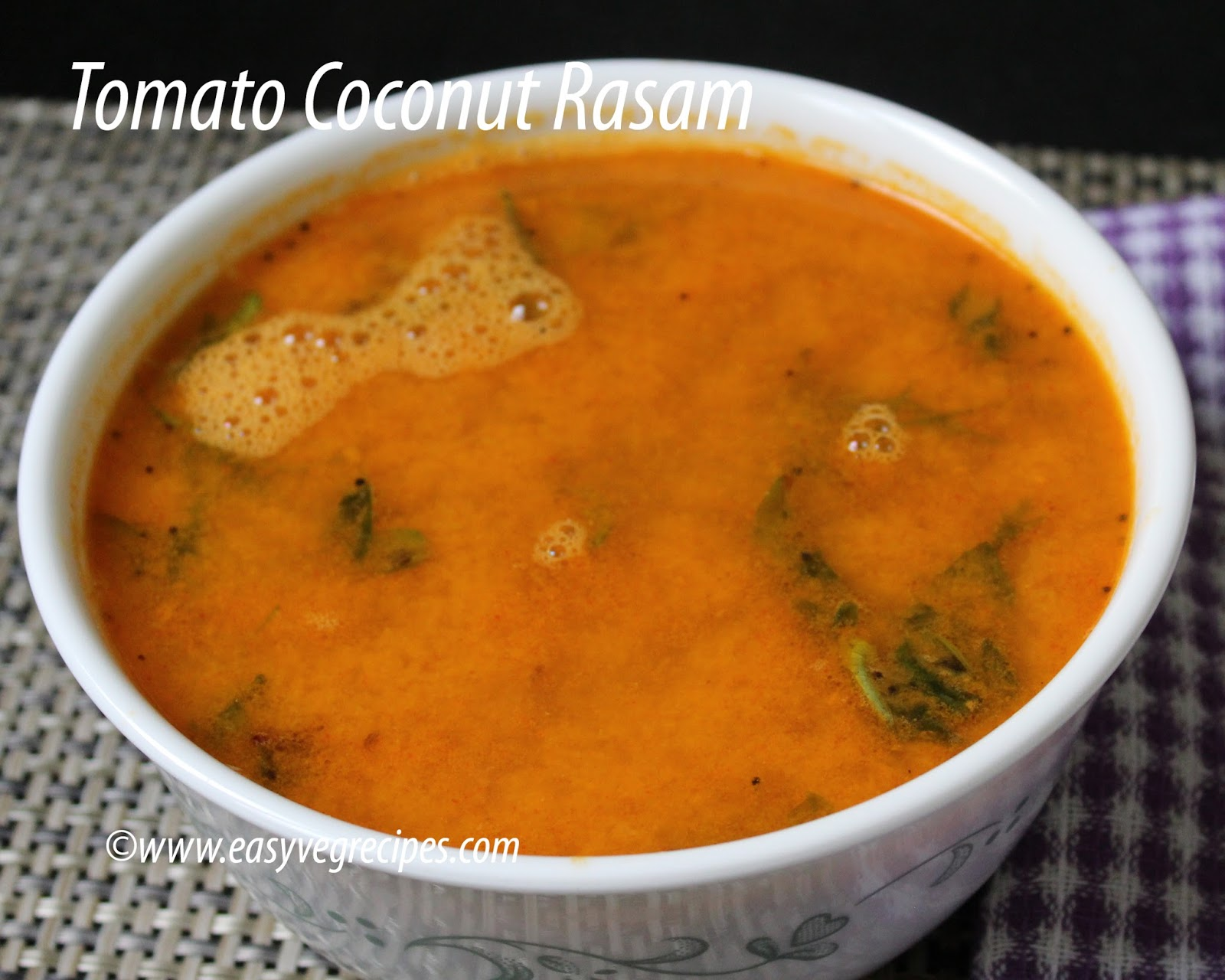 Tomato Coconut Rasam Recipe
