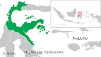 Peta wilayah propinsi Sulawesi Tengah