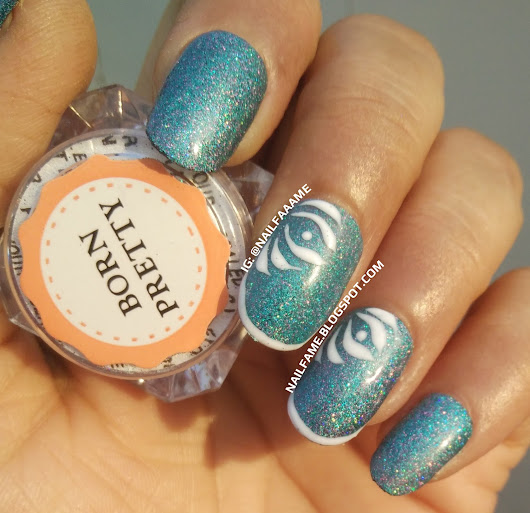BORN PRETTY TURQUOISE HOLOGRAPHIC LASER POWDER